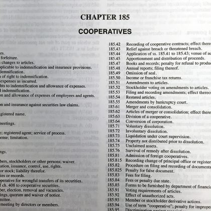 UW Center for Cooperatives produces FAQ Sheet on Ch. 185